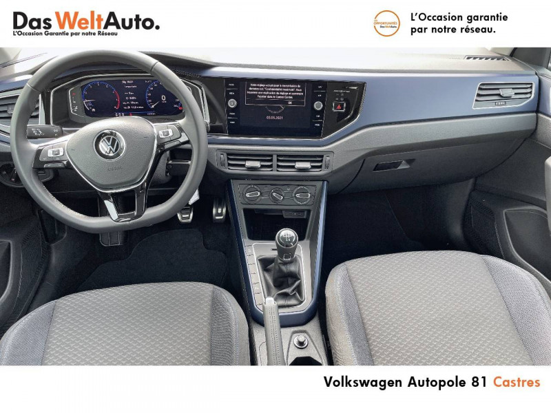 Volkswagen Polo VI Polo 1.0 TSI 95 S&S BVM5 United 5p Noir occasion à Castres - photo n°11