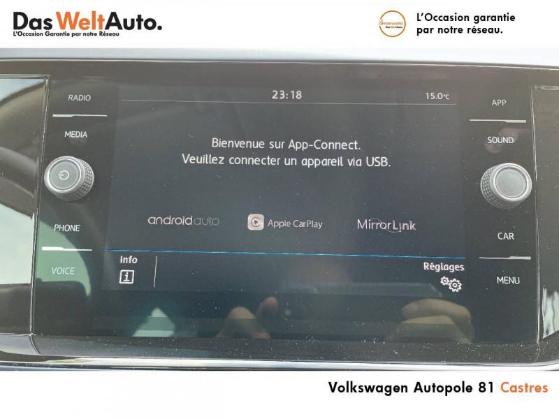 Volkswagen Polo VI Polo 1.0 TSI 95 S&S DSG7 United 5p Gris occasion à Castres - photo n°9