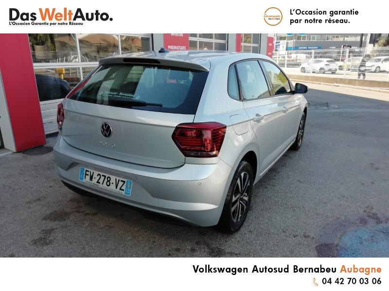 Volkswagen Polo 1.0 TSI 95ch United Euro6d-T Argent occasion à AUBAGNE - photo n°4