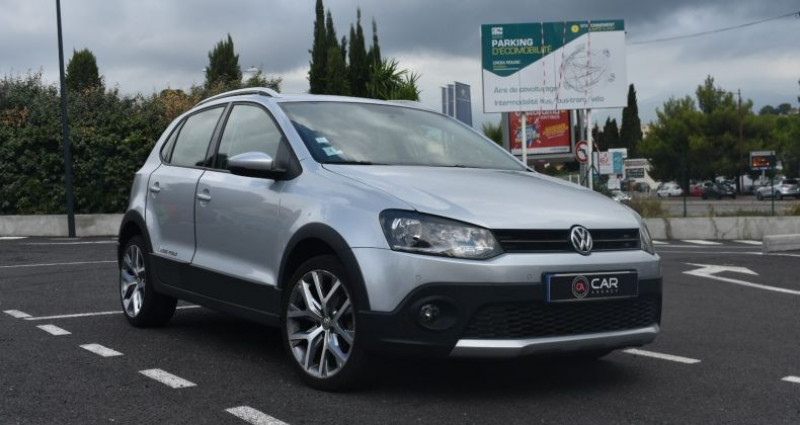 Volkswagen Polo CROSSOVER 1.2 TSI 90 CH GARANTIE Gris occasion à ANTIBES - photo n°3