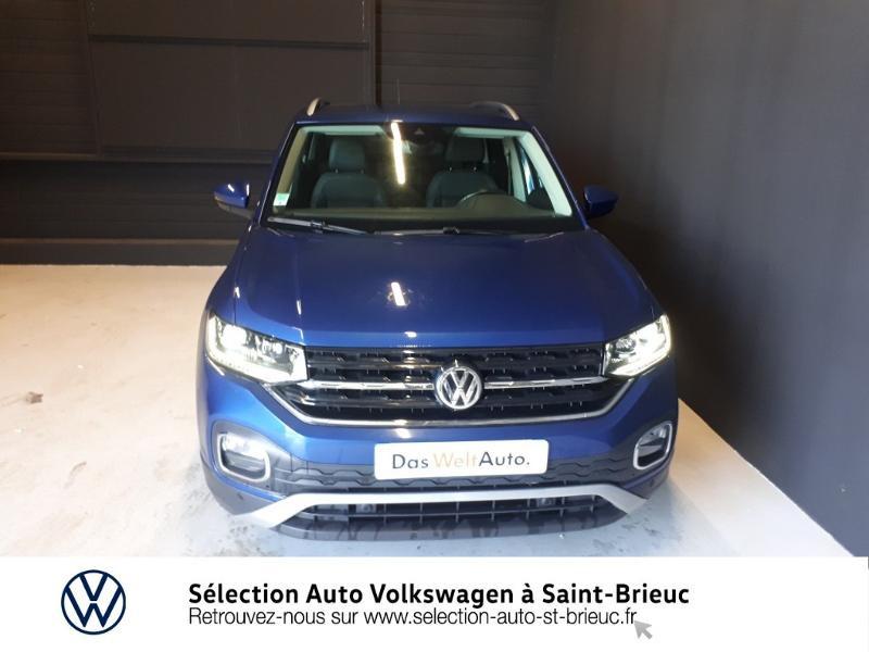 Volkswagen T-cross 1.0 TSI 115ch Carat DSG7 Bleu occasion à Saint Brieuc - photo n°5
