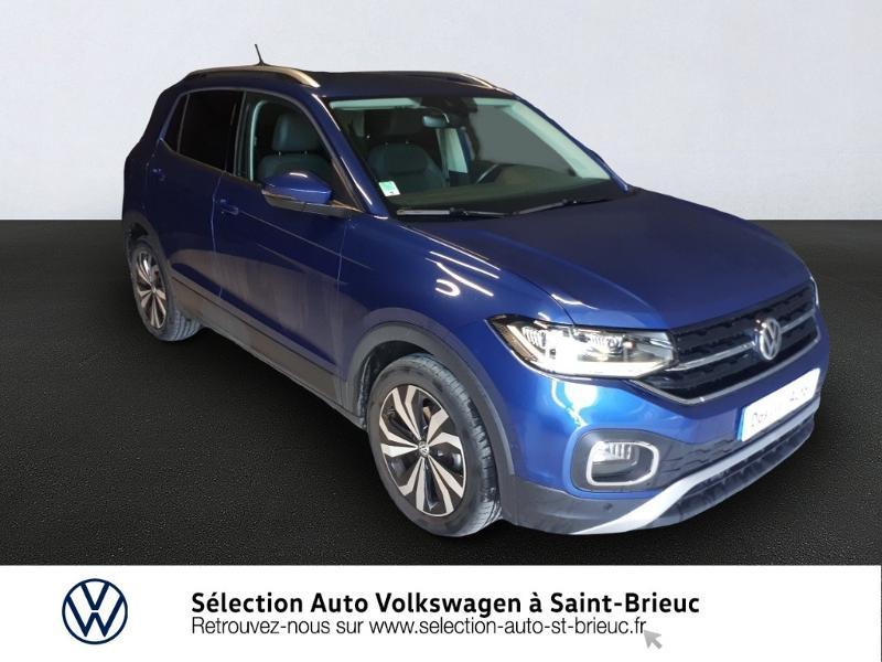 Volkswagen T-cross 1.0 TSI 115ch Carat DSG7 Bleu occasion à Saint Brieuc