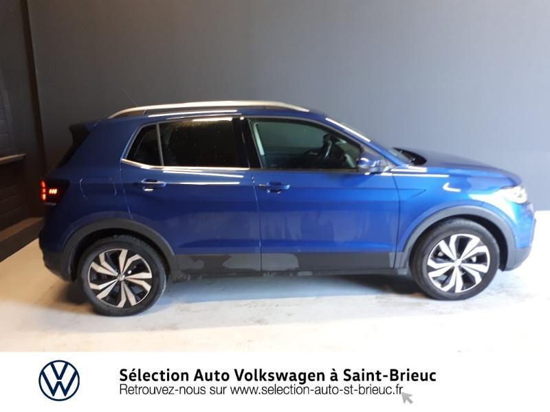 Volkswagen T-cross 1.0 TSI 115ch Carat DSG7 Bleu occasion à Saint Brieuc - photo n°2