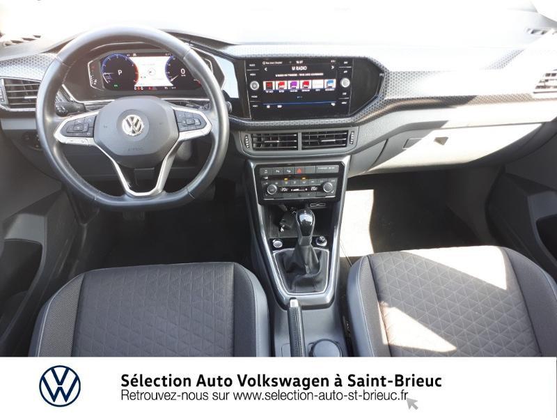 Volkswagen T-cross 1.0 TSI 115ch Carat DSG7 Bleu occasion à Saint Brieuc - photo n°6