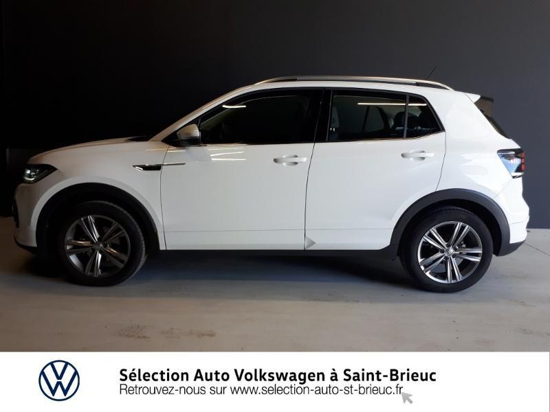Volkswagen T-cross 1.0 TSI 115ch R-Line DSG7 Blanc occasion à Saint Brieuc - photo n°4