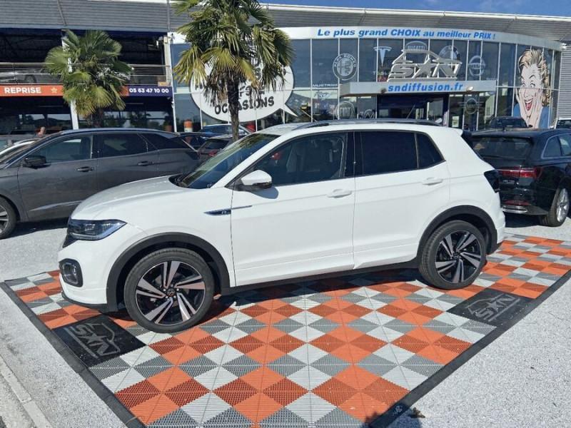 Volkswagen T-cross 1.5 TSI 150 DSG7 R-LINE JA 18 GPS Caméra ADML Blanc occasion à Cahors