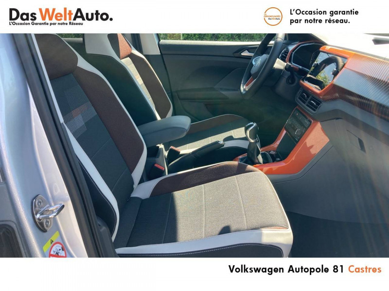 Volkswagen T-cross T-Cross 1.0 TSI 115 Start/Stop BVM6 Carat 5p Argent occasion à Castres - photo n°6
