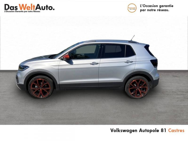 Volkswagen T-cross T-Cross 1.0 TSI 115 Start/Stop BVM6 Carat 5p Argent occasion à Castres - photo n°3