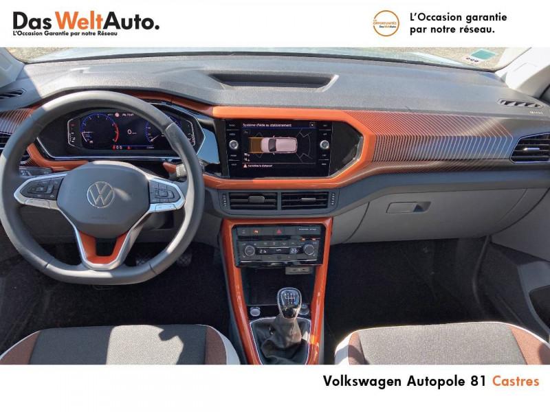 Volkswagen T-cross T-Cross 1.0 TSI 115 Start/Stop BVM6 Carat 5p Argent occasion à Castres - photo n°5