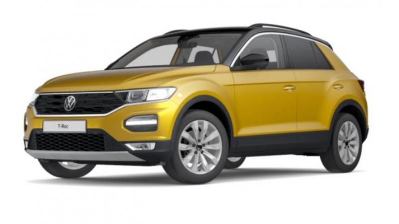 Volkswagen T-Roc 1.5 tsi 150cv dsg7 lounge surequipe Jaune occasion à Ganges