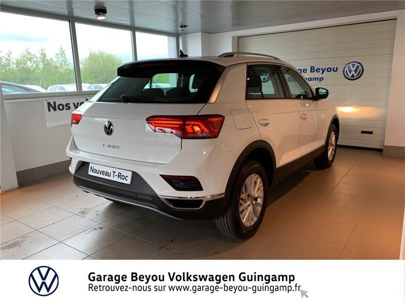 Volkswagen T-Roc 2.0 TDI 115 START/STOP BVM6 Blanc occasion à Saint Agathon - photo n°4