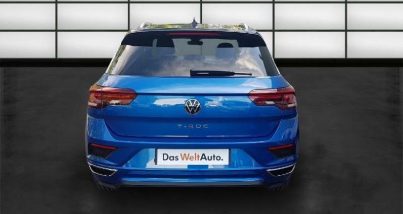 Volkswagen T-Roc 2.0 TDI 150ch R-Line DSG7 Euro6d-T Bleu occasion à La Rochelle - photo n°4