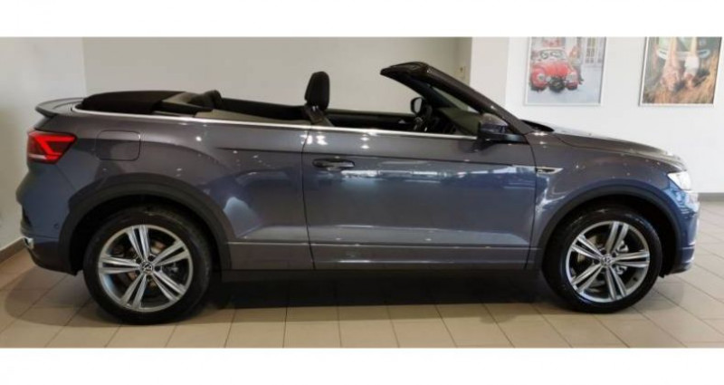 Volkswagen T-Roc Cabriolet 1.5 TSI EVO 150 Start/Stop DSG7 R-Line Gris occasion à LADOIX-SERRIGNY - photo n°2