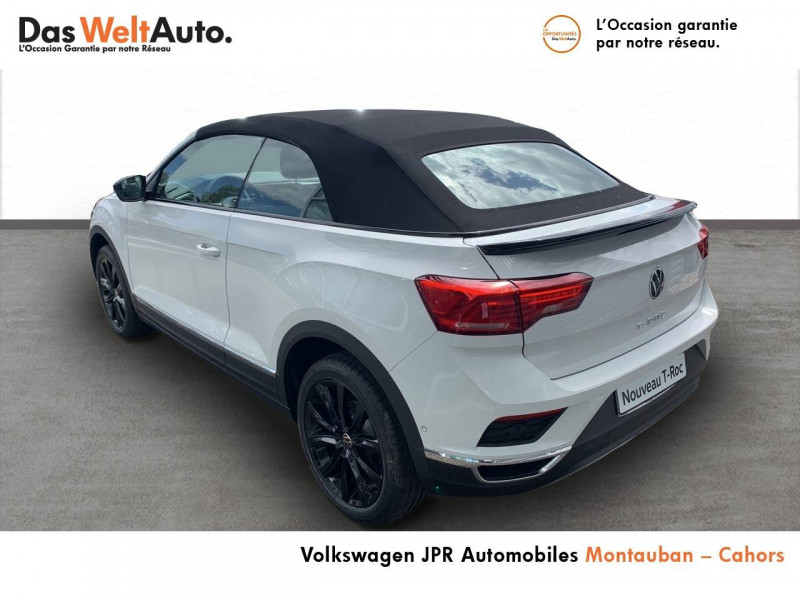 Volkswagen T-Roc T-Roc Cabriolet 1.0 TSI 115 Start/Stop BVM6 Style 2p Blanc occasion à Cahors - photo n°4