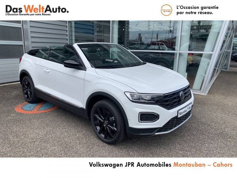 Volkswagen T-Roc T-Roc Cabriolet 1.0 TSI 115 Start/Stop BVM6 Style 2p Blanc occasion à Cahors - photo n°8