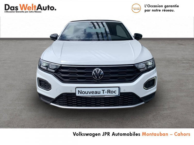 Volkswagen T-Roc T-Roc Cabriolet 1.0 TSI 115 Start/Stop BVM6 Style 2p Blanc occasion à Cahors - photo n°2