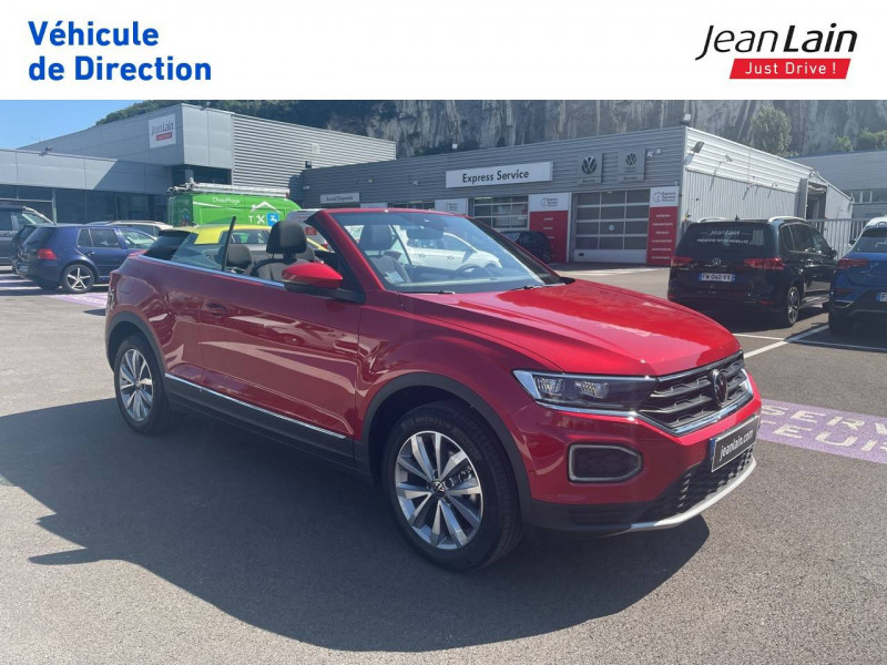Volkswagen T-Roc T-Roc Cabriolet 1.5 TSI EVO 150 Start/Stop DSG7 Style 2p Rouge occasion à Fontaine - photo n°3