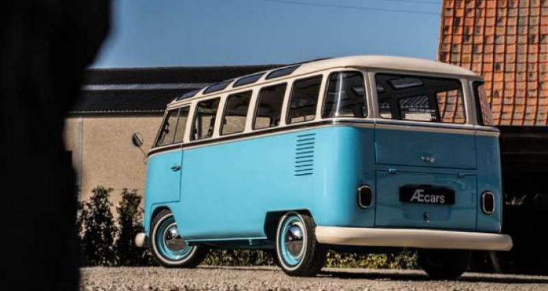 Volkswagen T1 AMBIENT LIGHT - OPEN ROOF - FULL RESTORATION Bleu occasion à IZEGEM - photo n°4
