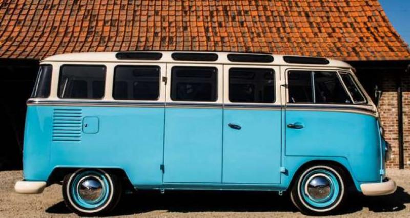 Volkswagen T1 AMBIENT LIGHT - OPEN ROOF - FULL RESTORATION Bleu occasion à IZEGEM - photo n°5