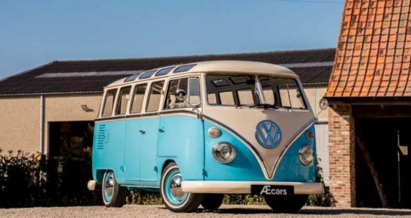 Volkswagen T1 AMBIENT LIGHT - OPEN ROOF - FULL RESTORATION Bleu occasion à IZEGEM - photo n°3