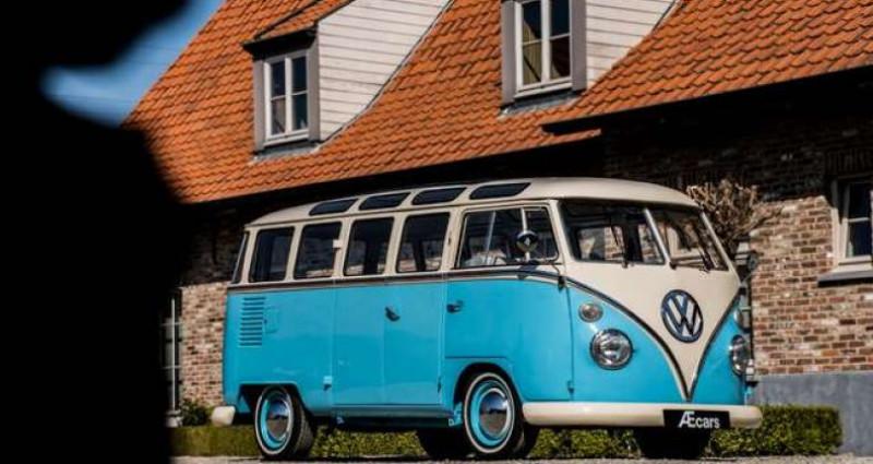 Volkswagen T1 AMBIENT LIGHT - OPEN ROOF - FULL RESTORATION Bleu occasion à IZEGEM