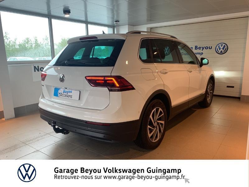 Volkswagen Tiguan 2.0 TDI 115ch Sound Blanc occasion à Saint Agathon - photo n°4
