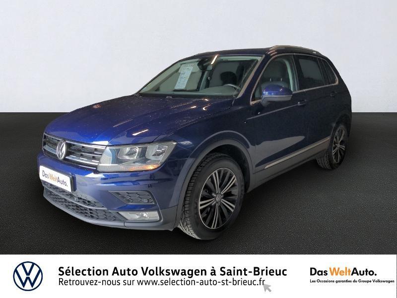 Volkswagen Tiguan 2.0 TDI 150ch BlueMotion Technology Confortline 4Motion Bleu occasion à Saint Brieuc