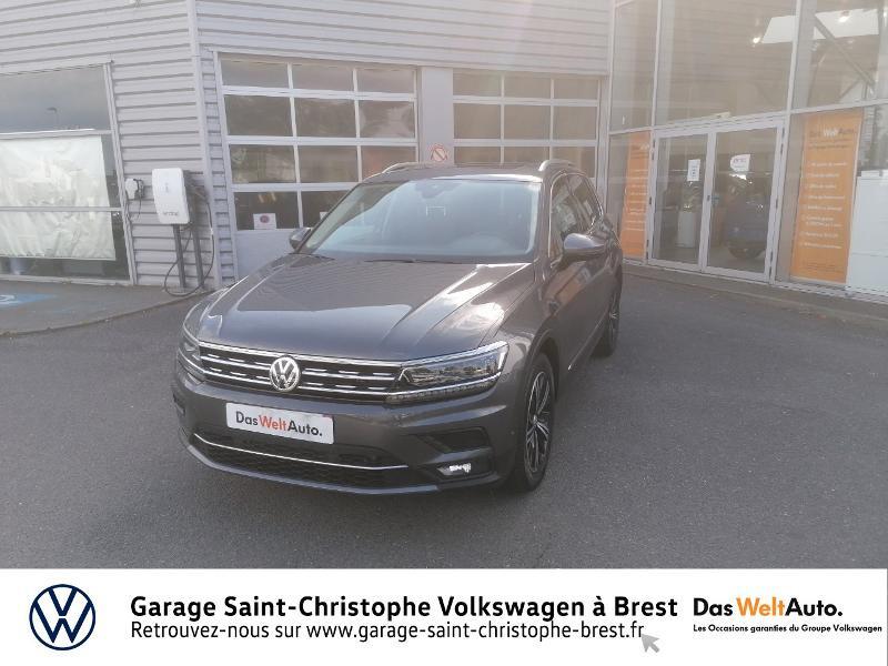 Volkswagen Tiguan 2.0 TDI 150ch Carat DSG7 Gris occasion à Brest - photo n°18