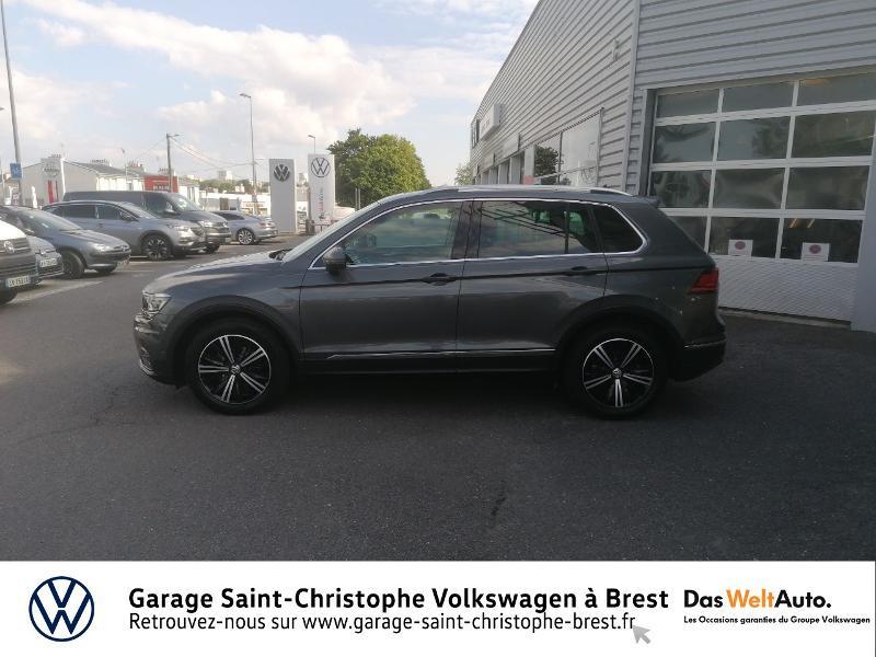 Volkswagen Tiguan 2.0 TDI 150ch Carat DSG7 Gris occasion à Brest - photo n°2
