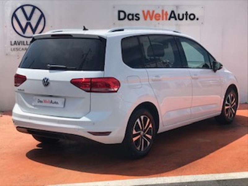 Volkswagen Touran 2.0 TDI 115ch FAP IQ.Drive DSG7 7 places Euro6d-T Blanc occasion à LESCAR - photo n°3