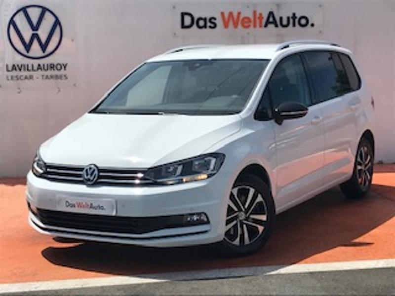 Volkswagen Touran 2.0 TDI 115ch FAP IQ.Drive DSG7 7 places Euro6d-T Blanc occasion à LESCAR