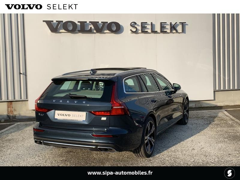 Volvo V60 T6 AWD 253 + 87ch Inscription Luxe Geartronic Bleu occasion à Lormont - photo n°3