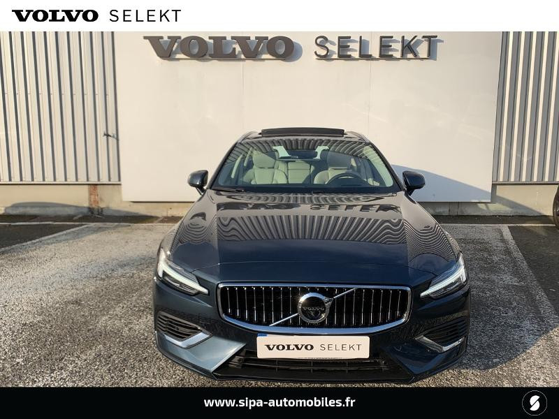 Volvo V60 T6 AWD 253 + 87ch Inscription Luxe Geartronic Bleu occasion à Lormont - photo n°4