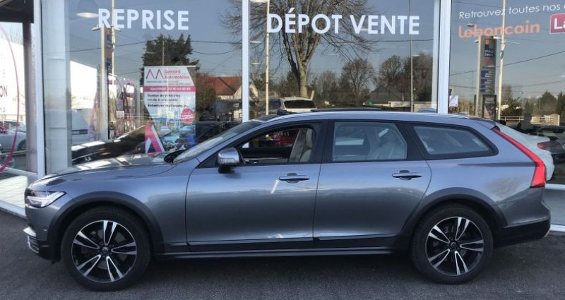 Volvo V90 D5 AWD 235CH PRO GEARTRONIC Gris occasion à SAUTRON - photo n°3