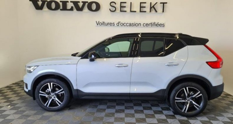 Volvo XC40 T3 163ch R-Design Geartronic 8 Gris occasion à TOURLAVILLE - photo n°3