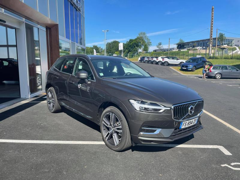 Volvo XC60 T6 AWD 253 + 87ch Inscription Luxe Geartronic Gris occasion à Quimper - photo n°3